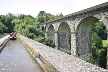 Chirk Aqueduct on the Llangollen canal