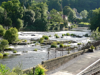 The town of Llangollen